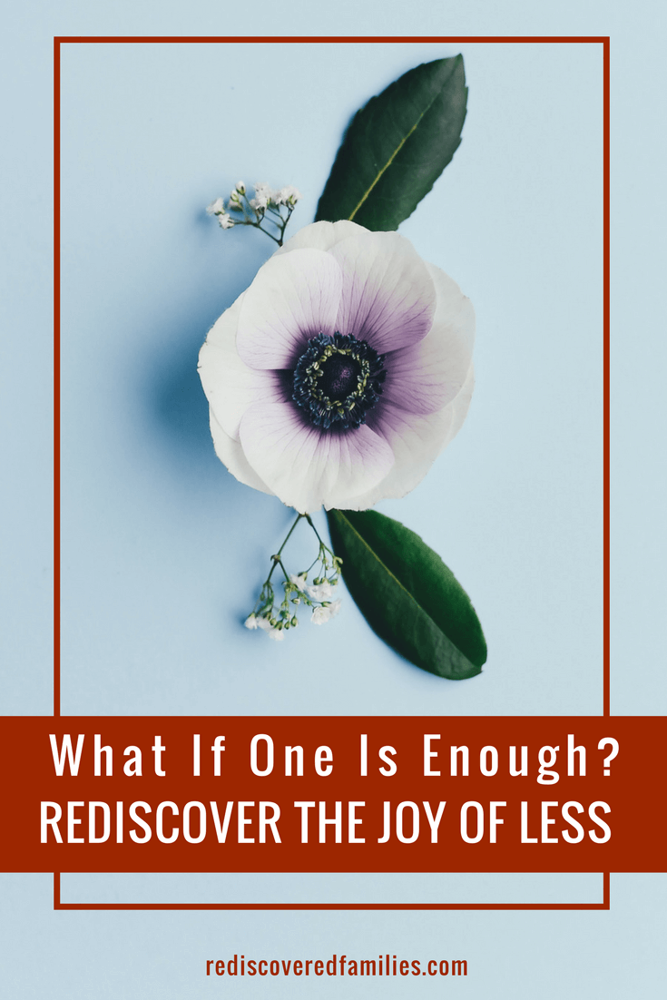 Rediscovering The Joy Of Less