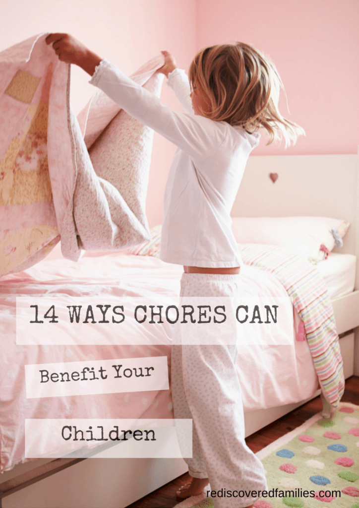how children benefit from chores The benefits are that the child sees a direct correlation between effort and the (if you link the allowance to chores), how many children you give an.