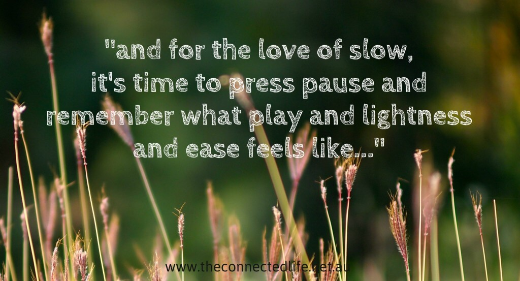 How fast is your life moving? Do you ever wish you could slow it down? Do you feel that you need more hours in the day so you can get everything done? What if we stopped rushing and embraced a slower pace of life?