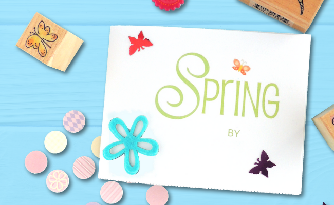 How To Make A Mini Notebook With Kids (Spring Project)