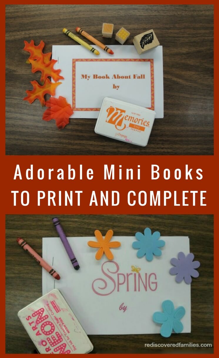 Adorable Mini Books To Print and Complete