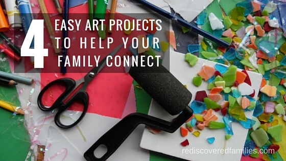4 Easy Art Activities To Help Your Family Connect - Enjoy an art project with your kids and learn more about their hopes, dreams and the things that are important to them.