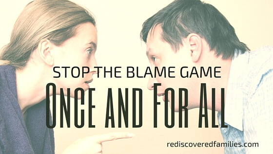 Is there anything more awful that watching people turn on each other? Perhaps you are experiencing conflict in your marriage. Maybe your kids simply won't stop bickering. When it comes to playing the blame game, there are no winners. Here's a helpful communication technique that can stop blaming in its tracks.