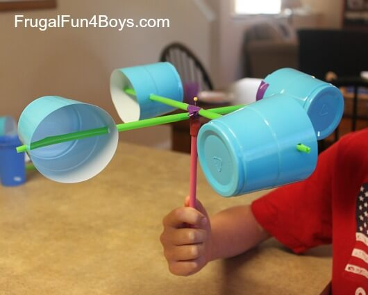 make an anemometer by Frugal Fun 4 Boys