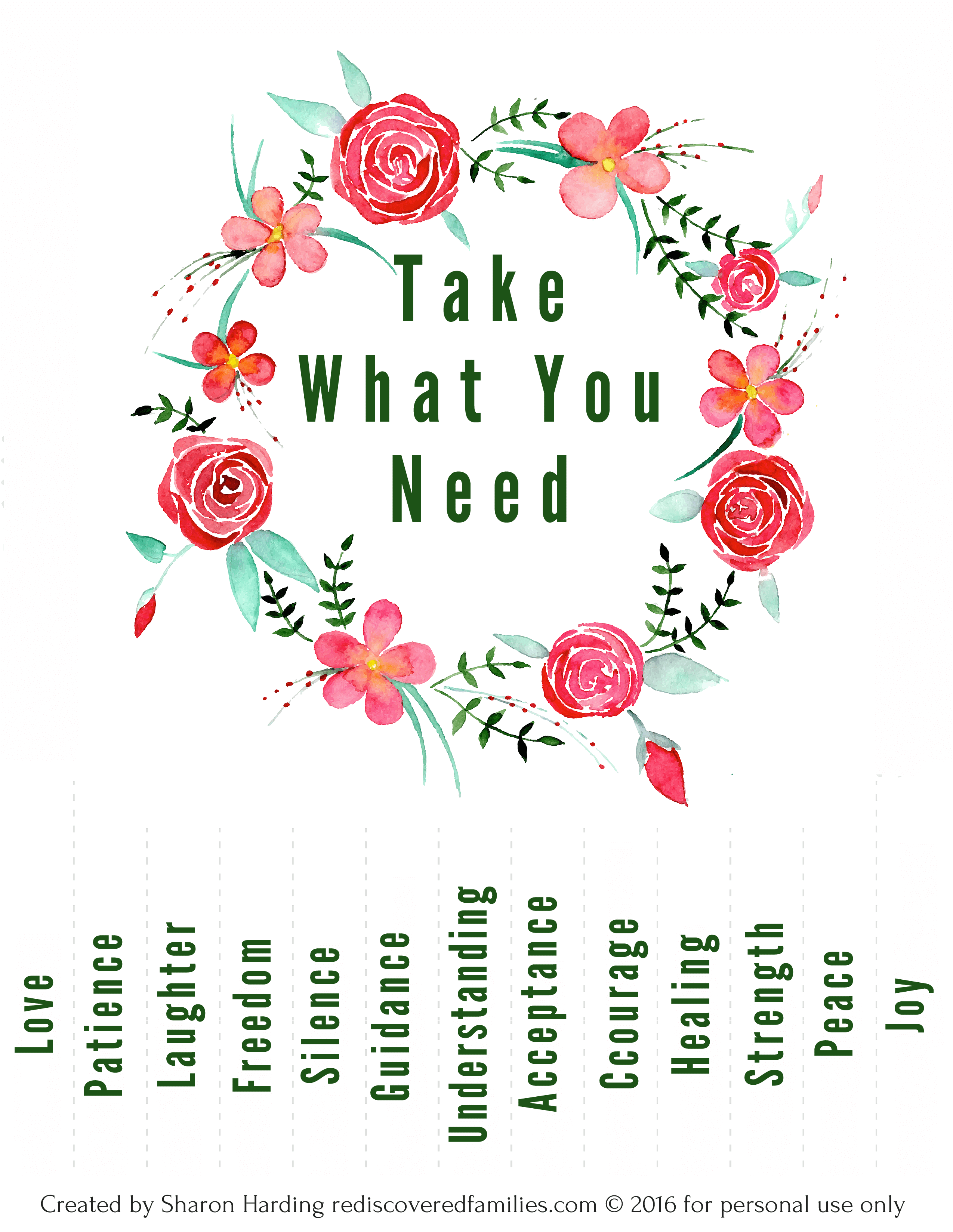 picture about Take What You Need Printable identify 20 Uplifting Tactics in the direction of Present Kindness This Spring
