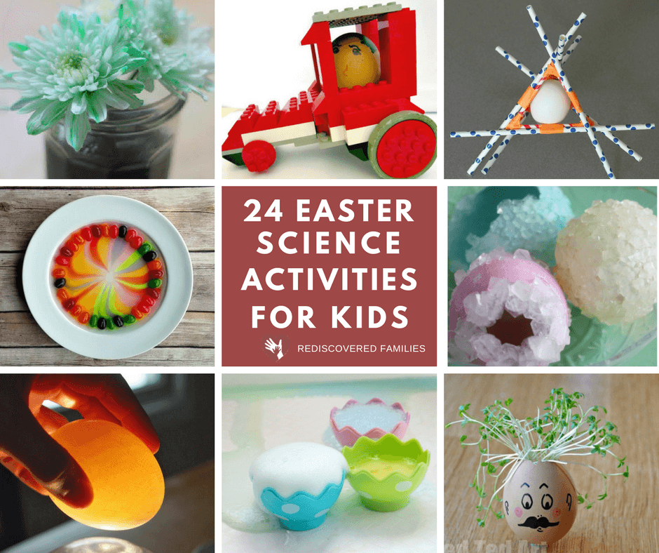Easter Science Activities For Kids Facebook Collage