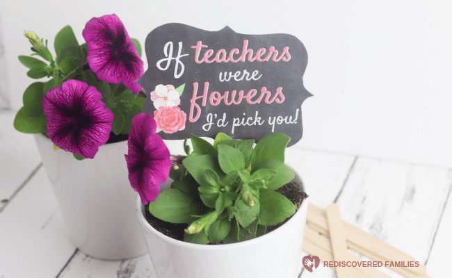 A Really Simple Homemade Teacher's Gift (Free Printable)