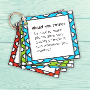 photo about Would You Rather Cards Printable named 102 Of The Great Would Your self In its place Queries For Children