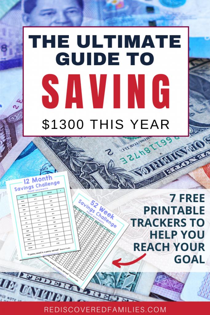 52-Week Money Saving Challenge Printable