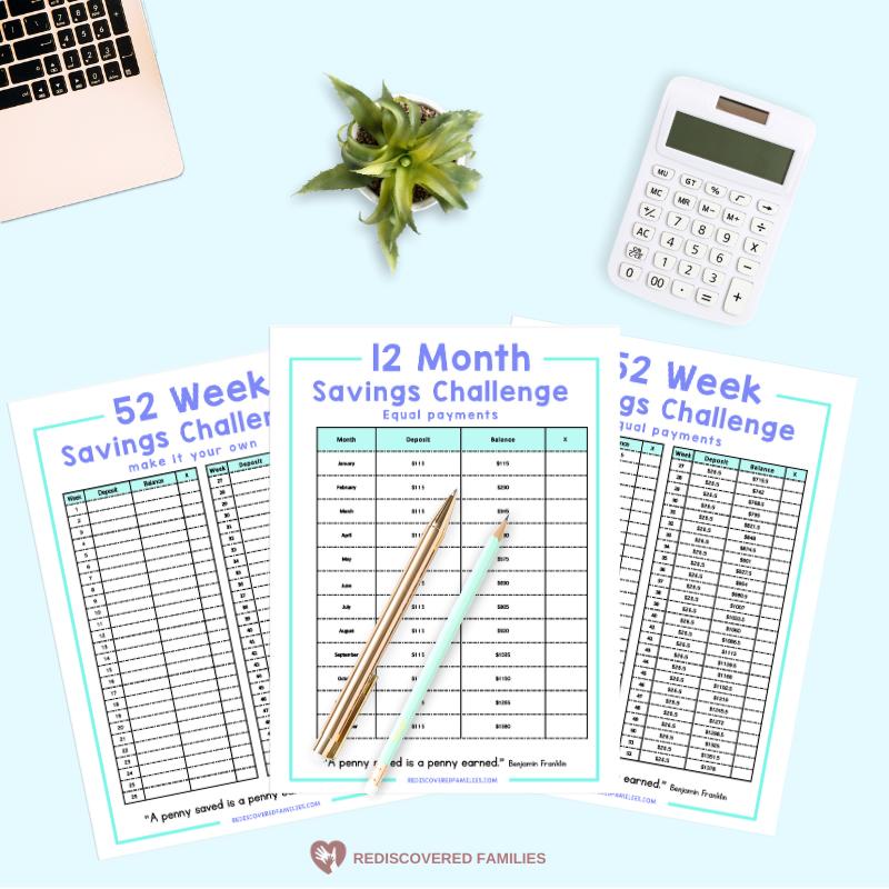 52 Week Money Saving Challenge Printable